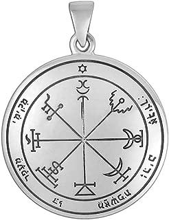 Moonlight Mysteries Sterling Silver Seventh Pentacle of Jupiter Talisman for Wealth
