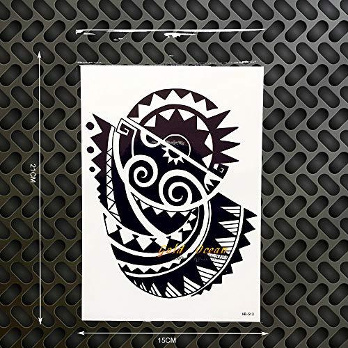 tzxdbh 2 Stücke Rock Dwayne Johnson 3D Große Körperkunst Tattoo Hülse Wasserdicht Schwarz Tattoo Ghb-513 Temporäre Tätowierung Aufkleber Auf Der Brust