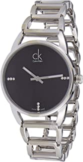 Calvin Klein Women's Black Dial Stainless Steel Band Watch - K3G2312S