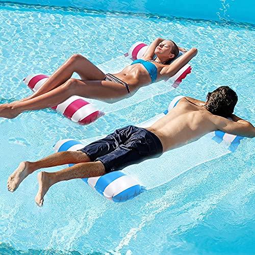 CHAIRLIN 2pcs Aufblasbare Wasserhängematte Luftmatratze Pool Aufblasbares Schwimmbett aufblasbare hängematte Pool Wasser Hängematte 120 * 70 cm
