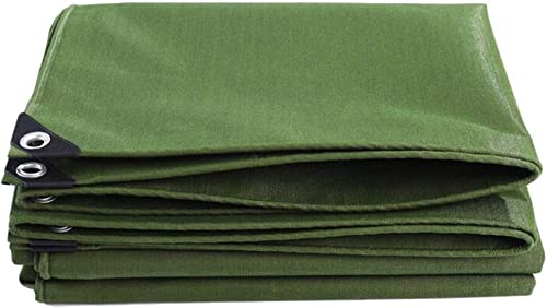 ZXZXI Bache De Plein Air Randonnée Randonnée Imperméable étanche à La Poussière Coupe-Vent Parasol Un Camion Couverture Toile épaisse (Couleur   vert, Taille   3x5m)