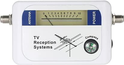 Digital Satellite Signal Finder Satellite Finder Satellite Signal Meter TV Antenna Satellite Signal Finder Meter with Compass (White)