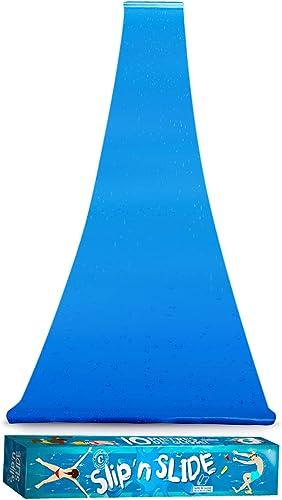 Ventriglisse Géant XXL Officiel 10 Mètres | Tapis de Glisse Qualité Premium | Slip'n Slide | Jeu Eau Plein Air | + Ep...