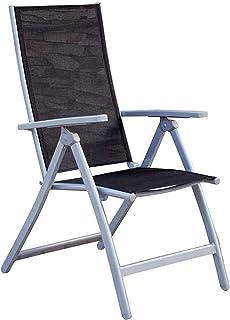 MOMMA HOME Silla de Jardín de 5 Posiciones - Silla de Aluminio Resistente- Modelo Lima - Diseño Moderno - Comodidad Asegur...
