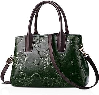 NICOLE&DORIS Women's Top Handle Handbags Shoulder Bag Retro Tote Purse Cross Body Bag for Lady