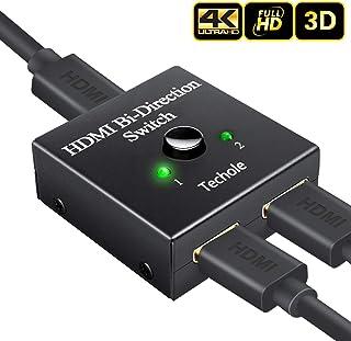 Techole HDMI 切替器 分配器 双方向 hdmiセレクター 4K/3D/1080P対応 1入力2出力/2入力1出力 手動切替 PS3/PS4/Nintendo Switch/Xbox/HDTV/DVDプレーヤーなど対応