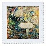 3dRose qs_44923_1 Henri De Toulouse Ballerina-Quilt Square,