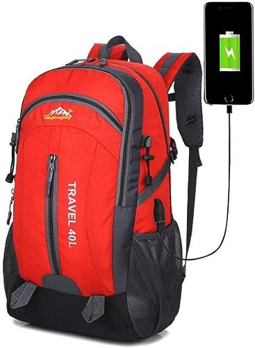 L&JING Sac à Dos de randonnée USB, 40L Sports de Plein air Sac d'alpinisme d'étudiant pour Les Hommes et Les Femmes,L5