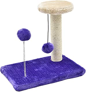 Cat Toys Scratching Cat Post Wood Climbing Tree Cat Jumping Standing Frame Cat Furniture Crazy Hanging Spring Balls