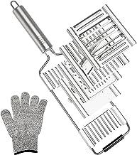 Multipurpose Vegetable Slicer Cutter Graters for Kitchen Stainless Steel with 4 Blades Handheld Veggie Shredder Chopper fo...
