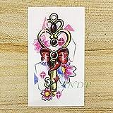 Handaxian 3pcsWaterproof Autocollant Rouge Beauté Fille Amour Tatouage Collier Art Fille Tatouage Femme