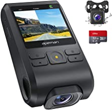 APEMAN Dash Cam, Front and Rear Camera for Cars FHD 1080P Support GPS, SD Card Included, 170°Wide Angle, Motion Detection, Night Vision, G-Sensor, Parking Monitor, Loop Recording, WDR Updated Version