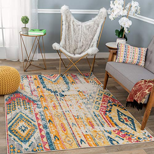 "Rugshop Sky Collection Bohemian Area Rug 7'10"" x 10' Multi"