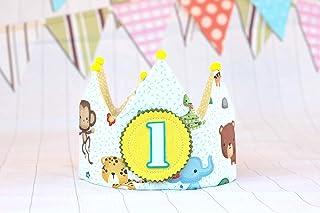 Compleanno corona di compleanno animali della giungla per neonati e bambini