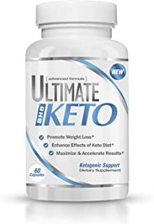 Ultimate Keto - BHB Exogenous Ketones Supplement - Weight Loss and Keto Diet Support - Enter Fast Ketosis - Burn Fat - Beta-Hydroxybutyrate Mineral Salts Formula for Men and Women