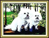 クロスステッチ刺繡キット2刺繡犬11CTDIY刺繡ステッチ刺繡、刺繡刺繡刺繡クロスステッチ刺繡刺繡-40x50cm