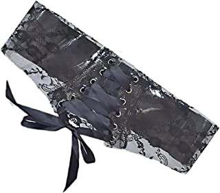 Kobiety Koronki Waistband Wide Belt Moda All-Match Akcesoria do sukienek Czarny, Szeroki Beltowy Koronkowy Pas