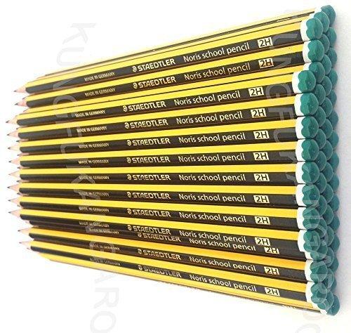 STAEDTLER NORIS 2H SCHOOL PENCILS 2H GRADE [Box of 36] by Staedtler Noris