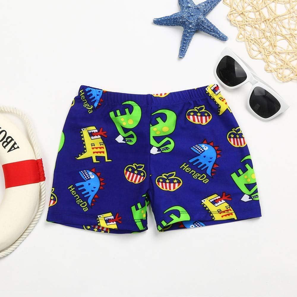 Alalaso Boys Cartoon Print Swimsuit Swimwear Stretch Beach Pants Shorts