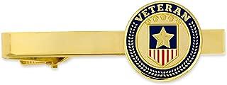 Veteran Military American Flag Tie Clip Tie Bar Gift for Him