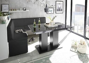 Mystylewood Olga Banc de cuisine d'angle en cuir synthétique rembourré facile d'entretien Armature en bois solide Gau