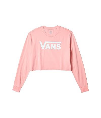 Vans Flying V Long Sleeve Crop Tee (Pink Icing) Women