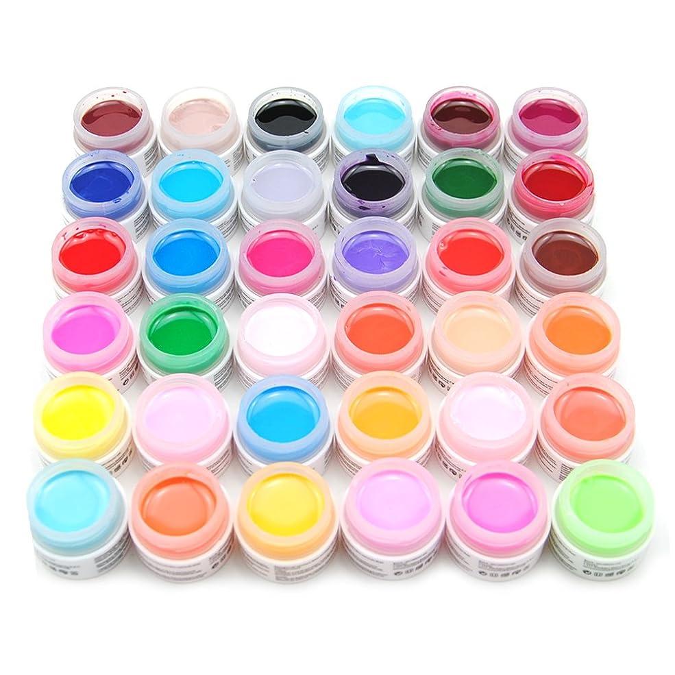 あいにく再び間違っているユニークモール(UniqueMall)ジェルネイルのセット 36色 純粋ネイルネイルカラーUVジェルレジン ネイルアート ネイルサロン 色々カラーネイルデコ人気セット
