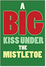 1460 'A Big Kiss Under The Mistletoe' - Funny Merry Christmas Greeting Card with 5