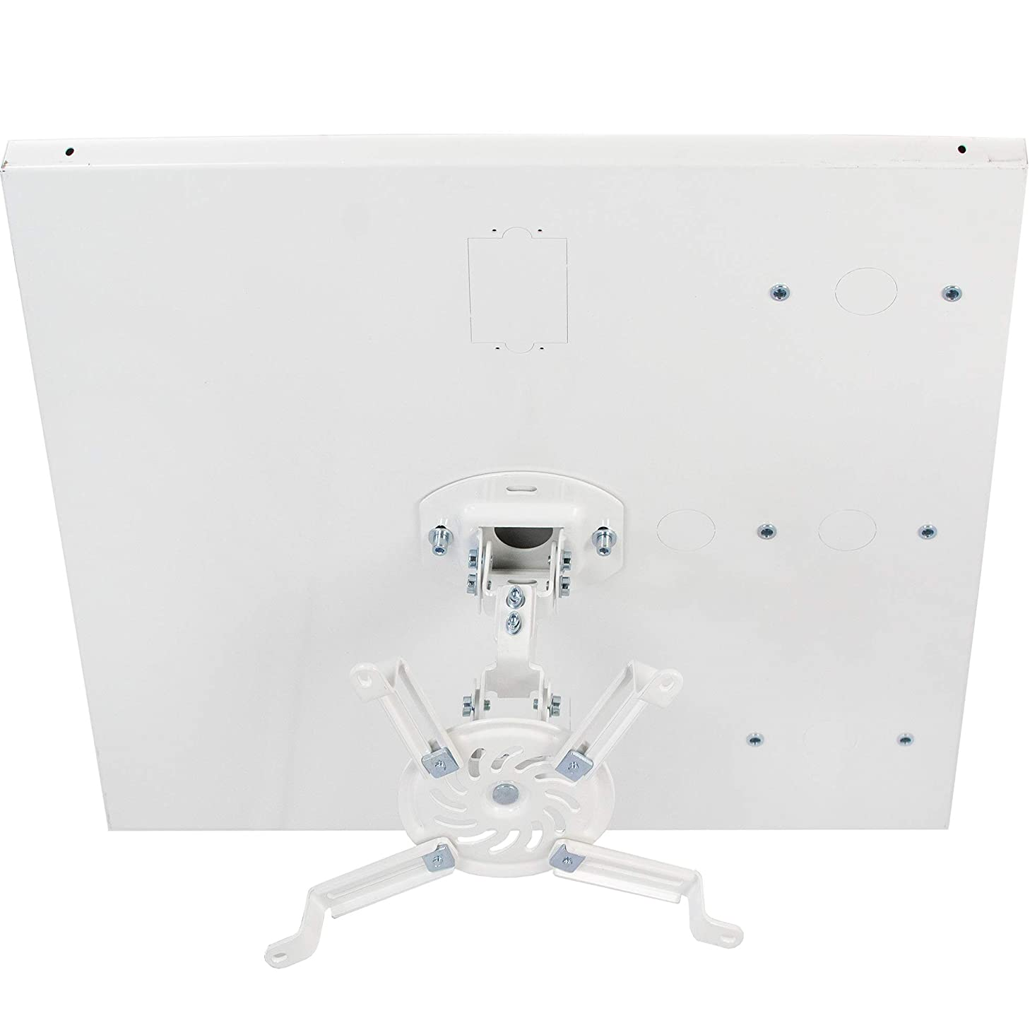 VIVO Universal White Adjustable 2x2 ft Drop Ceiling Projector Mount   Suspended Drop-in Ceiling Projection Mounting Kit (MOUNT-VP07DP)