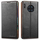 LENSUN Huawei Mate 30 Pro Case, Genuine leather Wallet