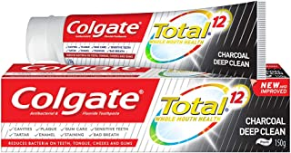Colgate Total Toothpaste, Charcoal Deep Clean, 150 g