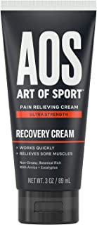 Art of Sport Ultra Strength Recovery Cream, Pain Relief Cream with Arnica and Eucalyptus, for Back Pain, Joint Pain, Muscl...