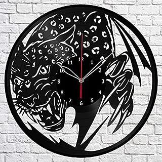 Cheetah Guepard Vinyl Record Wall Clock Fan Art Decor Original Gift Unique Decorative Vinyl Clock 12