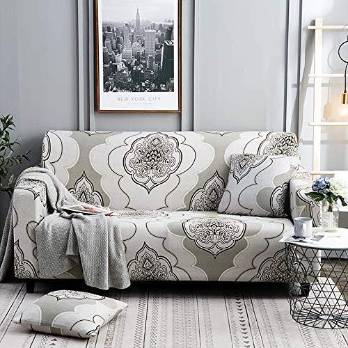 Funda de sofá elástica Fundas de sofá de algodón Fundas Ajustadas de sofá con Todo Incluido Fundas de sofá para Sala de Estar Mascotas Funda de sofá A19 3 plazas