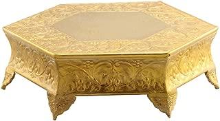 Benzara, Gold HGM002 Hexagonal Metal Wedding Cake Stand