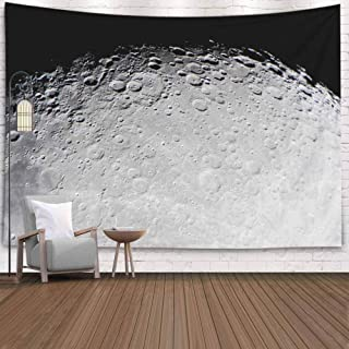 Jacrane Wall Hanging Tapestry, Dorm Tapestry Hang Wall Tapestry 80X60 Inches Picture Moon Surface Telescope This Zone Called Twilight Grey Terminator Art Tapestry for Dorm Bedroom Living Home Decor