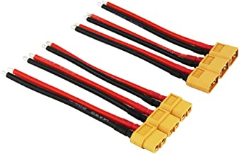 OliYin 3pairs XT60 Plug Male Female Connector Cable Silicone Wire 3.93in 14awg for RC Lipo Battery(Pack of 3)