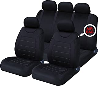 Fundas clásicas para asientos de coche XtremeAuto®, fundas frontales y traseras con reposacabezas
