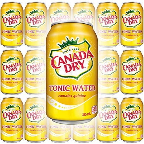 Canada Dry Tonic Water, 12oz Can (Pack of 18, Total of 216 Oz)