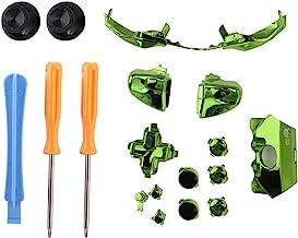 Botones de Gamepad, Juego de Destornilladores de Repuesto Botones de la manija de Juego para el Controlador de Xbox 360.(Green)