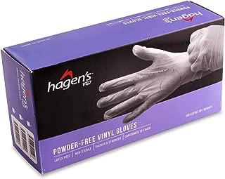 Hagen's Vg7 Powder-Free White Vinyl Gloves-M, 100 count