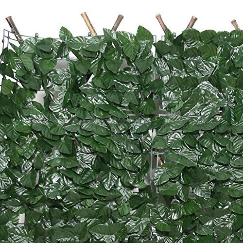 Hiedra Artificial Pantalla De Valla De Privacidad, Malla De Vid De Seto, Cerca De La Pared De La Planta, Sombra Impermeable Incluye Brida De Fijación Usado para Jardín, Terraza