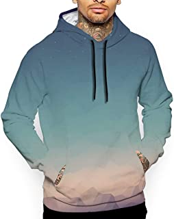 Abstract Natural Views Painting 3D All Printed Men's Hooded Pullover with Pocket Casual Hoodies Sweatshirt