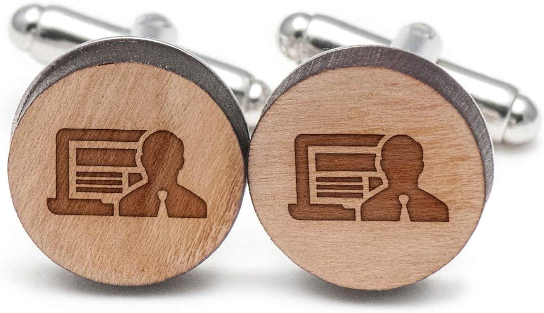 Programmer Cufflinks, Wood Cufflinks Hand Made in the USA