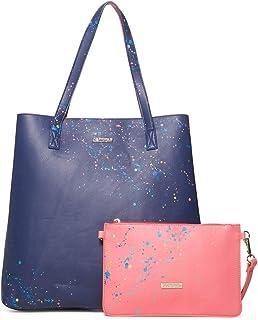 Desigual - Bag Siracusa Neiva Women, Shoppers y bolsos de hombro Mujer, Azul (Marino), 12x38x39 cm (B x H T)