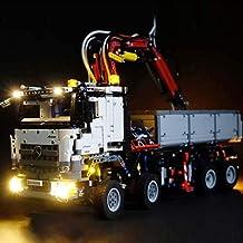 Iluminación De Bloques De Construcción De Camiones Grandes Bloques De Construcción Para Niños Kit De Iluminación De Decoración De Juguetes Juguete De Camión Interior Con Piezas De Iluminación LED