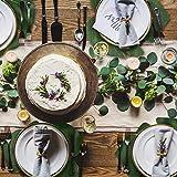 SUNANFBEST 36 Stück Tropische Blätter, Dschungel Deko Palmenblätter Dschungel Strand Thema Party Hochzeit Dekorationen Tischdekoration - 5