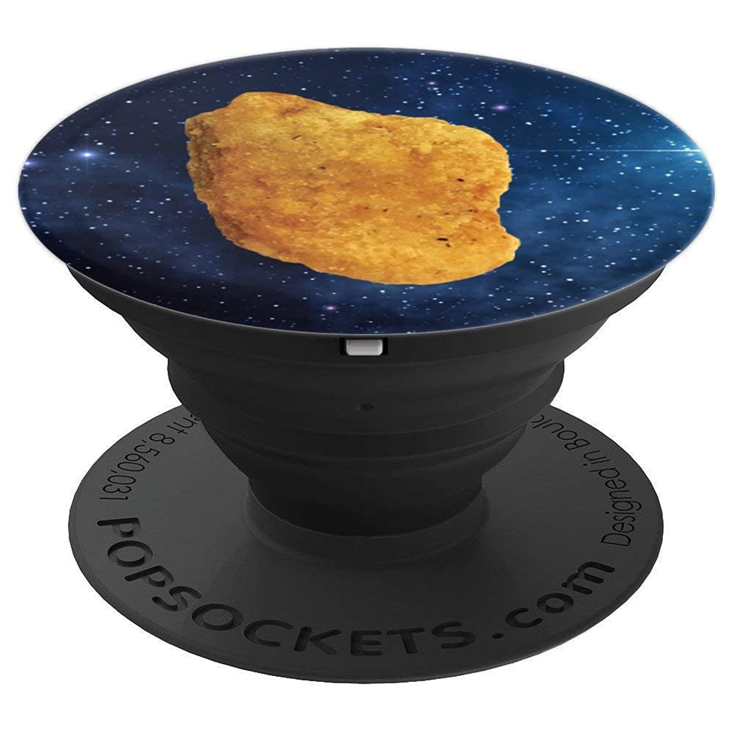 Chicken Nugget in Space Handle Funny Accessory Gift - PopSockets Grip and Stand for Phones and Tablets