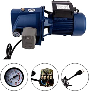 SHYLIYU Surface Garden Pumps Shallow Well Jet Pump with Pressure Switch 110V/60HZ 0.37KW 0.5HP 1 inch Outlet Centrifugal Clear Clean Water Pump Electric Industrial Farm Pool Pond