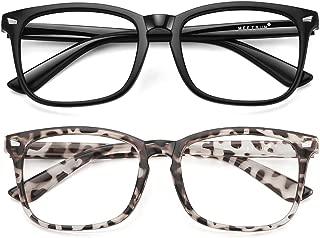 Blue Light Blocking Glasses, Anti Eye Strain Headache (Sleep Better),Computer Reading Glasses UV400 Transparent Lens
